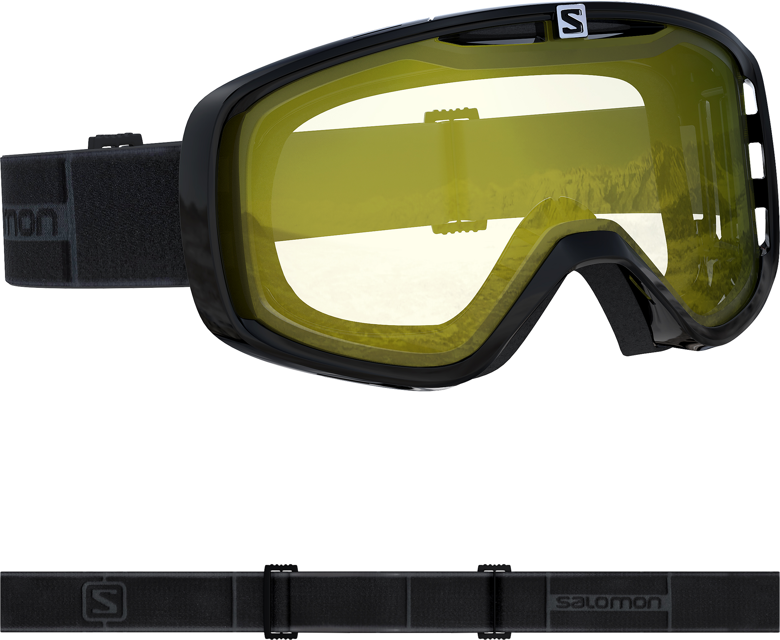 Маска горнолыжная SALOMON Aksium Access Black/L.Yellow (19/20)