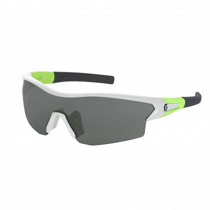 Очки SCOTT Leap LS white glossy/neon green grey light sensitive Линзы: темные